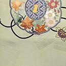 古鏡の図刺繍丸帯 前中心