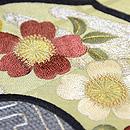 古鏡の図刺繍丸帯 質感・風合