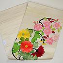 桜と菊丸紋の刺繍名古屋帯 帯裏