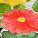 桜と菊丸紋の刺繍名古屋帯 菊の刺繍