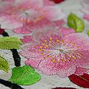 桜と菊丸紋の刺繍名古屋帯 桜の刺繍
