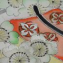 桜下に源氏車名古屋帯 桜の刺繍