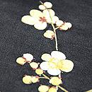 梅枝に小鳥刺繍帯 梅の刺繍