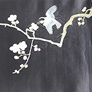 梅枝に鶯刺繍帯 前中心