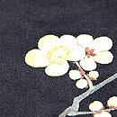 梅枝に鶯刺繍帯 梅の刺繍