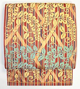 川島織物製 桧垣に藤文様袋帯