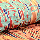 川島織物製 桧垣に藤文様袋帯 質感・風合