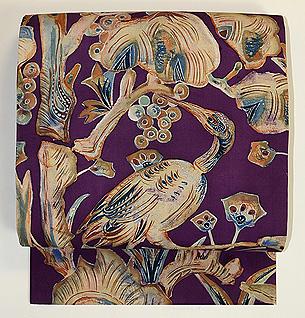 極楽鳥の染め名古屋帯