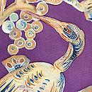 極楽鳥の染め名古屋帯 質感・風合