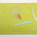 麦畑を舞う小鳥の図名古屋帯 前中心
