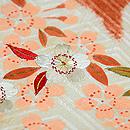 桜と枝垂れ藤刺繍絞り名古屋帯 質感・風合