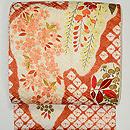 桜と枝垂れ藤刺繍絞り名古屋帯 別柄