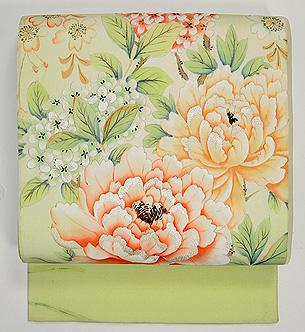 満開春の花の図名古屋帯