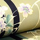 棒縞に桜の名古屋帯  質感・風合