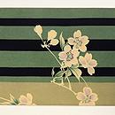 棒縞に桜の名古屋帯  前中心