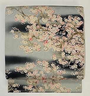 夜桜の名古屋帯