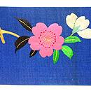 花喰い鳥刺繍の名古屋帯  前中心