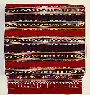 ラオス木綿横段浮織名古屋帯