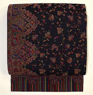 カシミールジャガード織名古屋帯