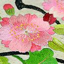 花の丸文刺繍名古屋帯 質感・風合