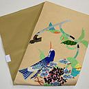 紫陽花と青い鳥刺繍名古屋帯 帯裏