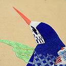 紫陽花と青い鳥刺繍名古屋帯 質感・風合