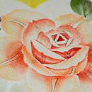 白地薔薇の名古屋帯 質感・風合