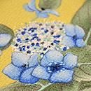 縮緬地に紫陽花の図名古屋帯 質感・風合