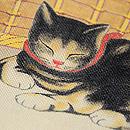 猫尽くしの染め帯 質感・風合