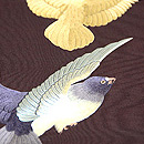 鳩の刺繍開き名古屋帯 質感・風合