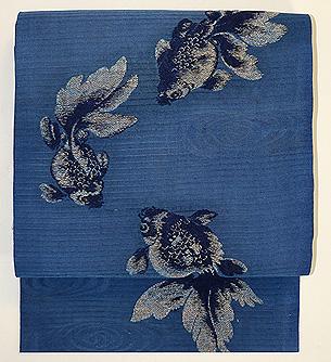 金魚の図織り名古屋帯