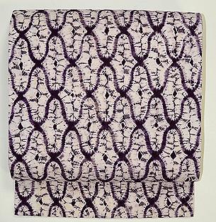 紫根染絞り名古屋帯