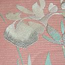 燕子花刺繍絽袋帯 質感・風合