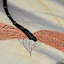 露芝に蜻蛉の図刺繍名古屋帯 質感・風合