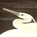 飛翔鷺の図染名古屋帯 質感・風合