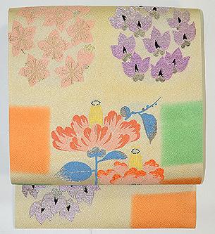 春の花纐纈(こうけち)絞り名古屋帯