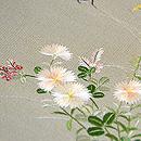 秋草に蟋蟀の図刺繍帯 質感・風合