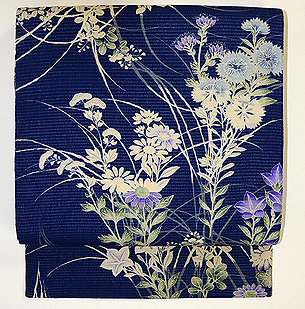 秋草の図絽名古屋帯