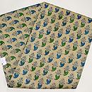 青と緑のペイズリー柄名古屋帯 帯裏