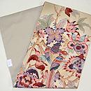 花喰い鳥手描き更紗の名古屋帯 帯裏