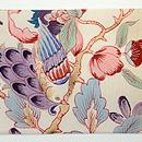 花喰い鳥手描き更紗の名古屋帯 前中心