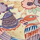 花喰い鳥手描き更紗の名古屋帯 質感・風合