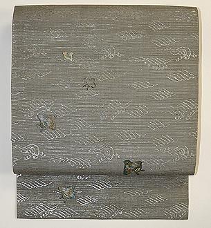 波に千鳥刺繍名古屋帯
