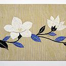 秋の花と小鳥の刺繍名古屋帯 前中心