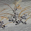 紋紗に秋草刺繍名古屋帯 質感・風合