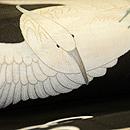 飛翔鷺の図名古屋帯 質感・風合