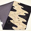 秋草に蟋蟀(こおろぎ)の図刺繍名古屋帯 帯裏