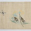 虫たちの図刺繍麻名古屋帯 前中心