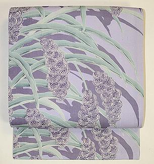 粟の図染め名古屋帯