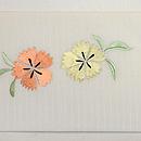 花輪に小鳥の刺繍帯 前中心
